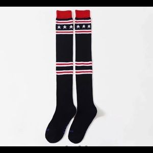 Accessories - Knit star over the knee socks